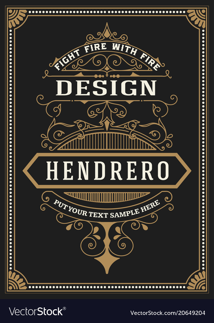 Baroque frame and label design Royalty Free Vector Image