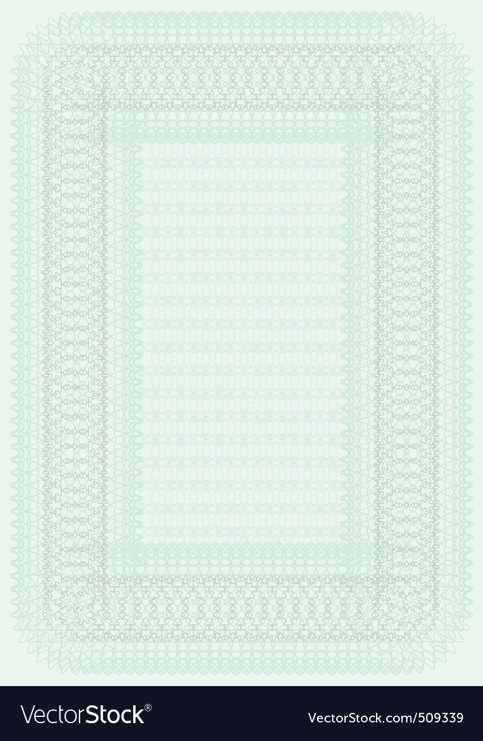 Blank certificate template Royalty Free Vector Image - blank certificate template