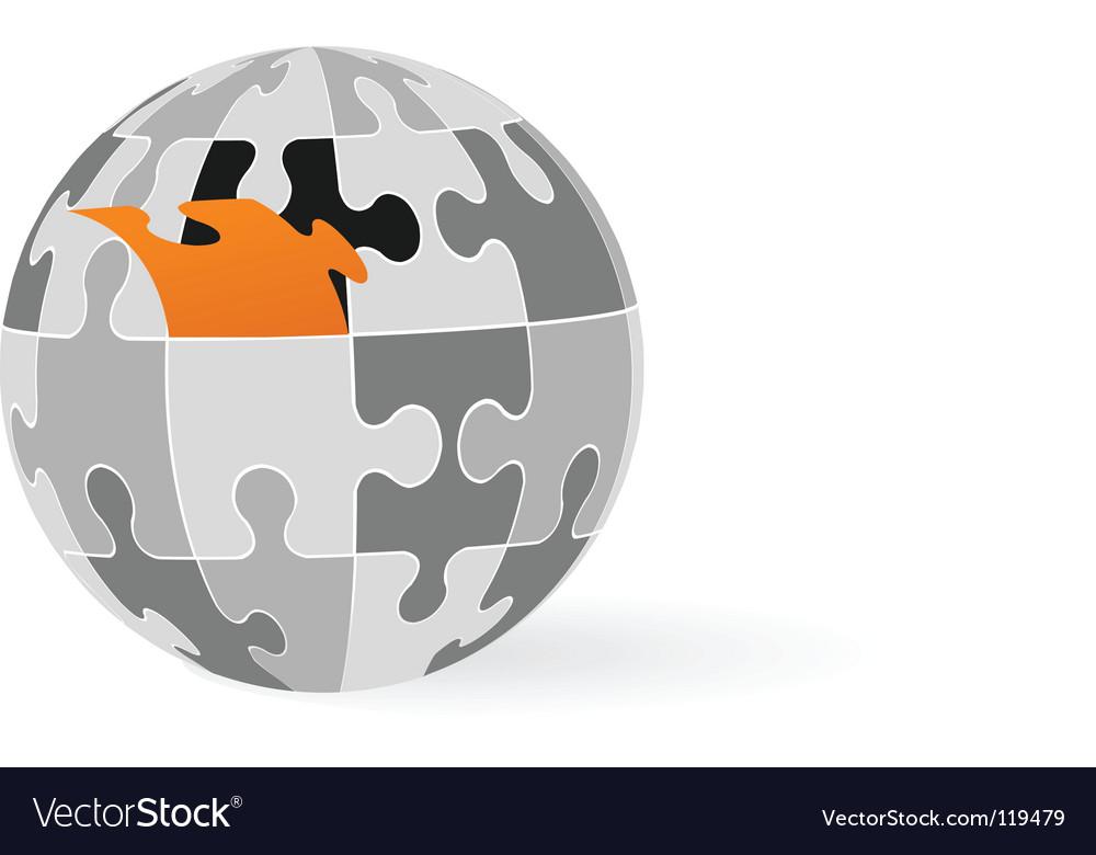 Puzzle globe Royalty Free Vector Image - VectorStock