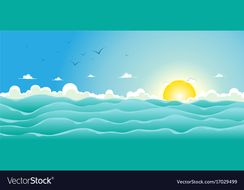 Summer ocean background Royalty Free Vector Image