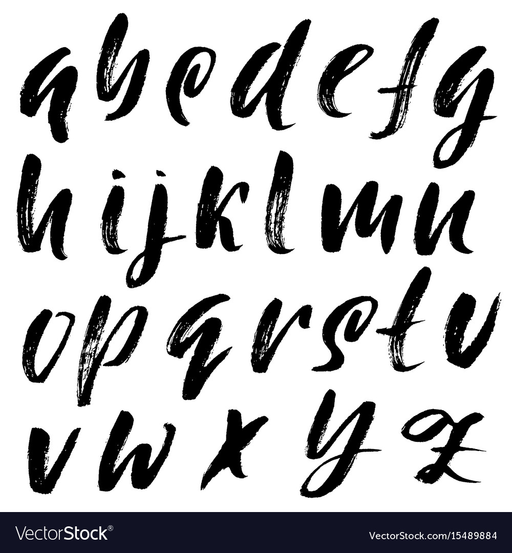 Calligraphy Font Modern Free Hand Drawn Elegant Calligraphy Font Modern Brush Vector Image On Vectorstock