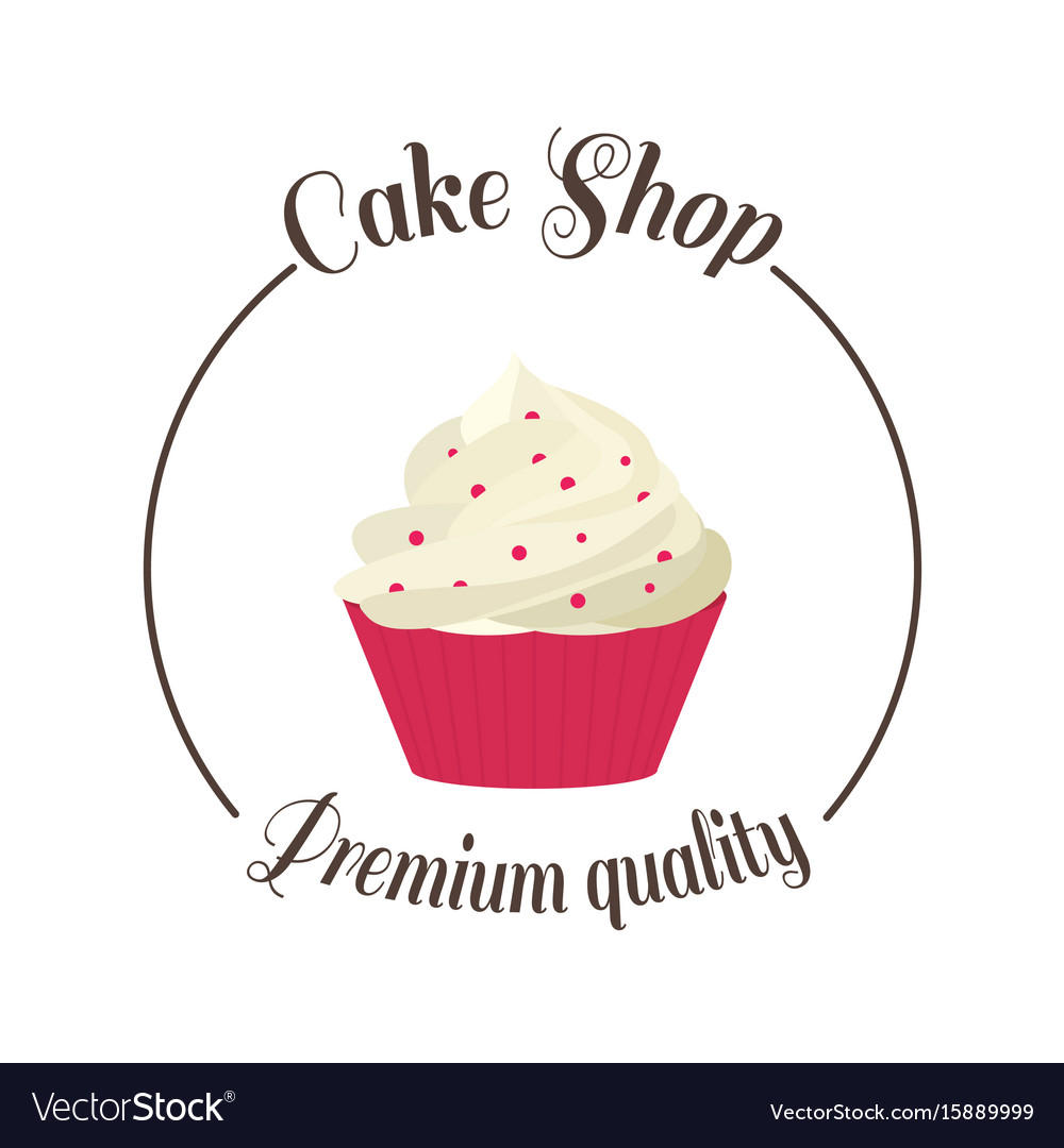 Kuchen Logo Logo Sweet Cupcake Shop Template Badge Logo For