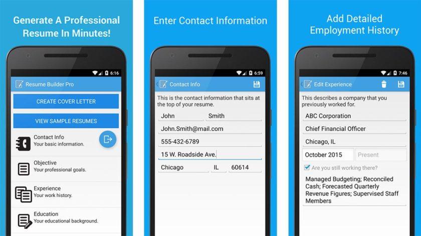 mobile resume builder - Onwebioinnovate - mobile resume