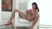 Sexy Coed with Big Natural Breasts Masturbates to Real Orgasms