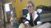 Enraged Mom Shares Her Jerking Skills With The Teen