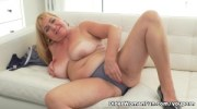 Busty grandma Pem loves stuffing her old pussy with dildo