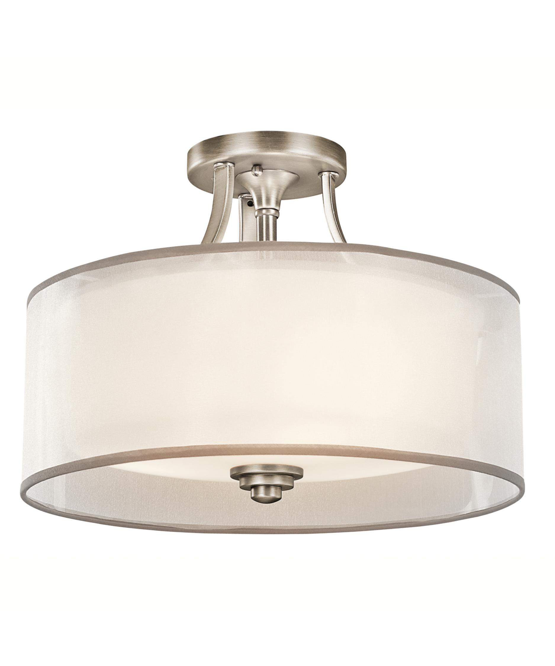 item kitchen lighting flush mount Shown in Antique Pewter finish and Opal Etched glass
