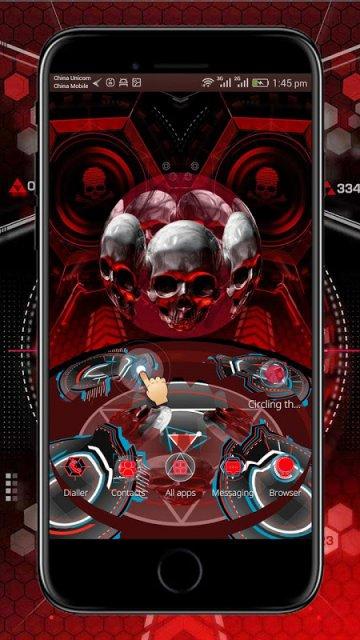 Cm Launcher 3d Theme Wallpaper Apk Download Red Blood Skull 3d Theme For Cm Launcher Download Apk
