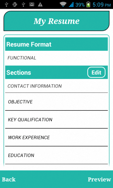 resume builder mobile app professional resumes example online