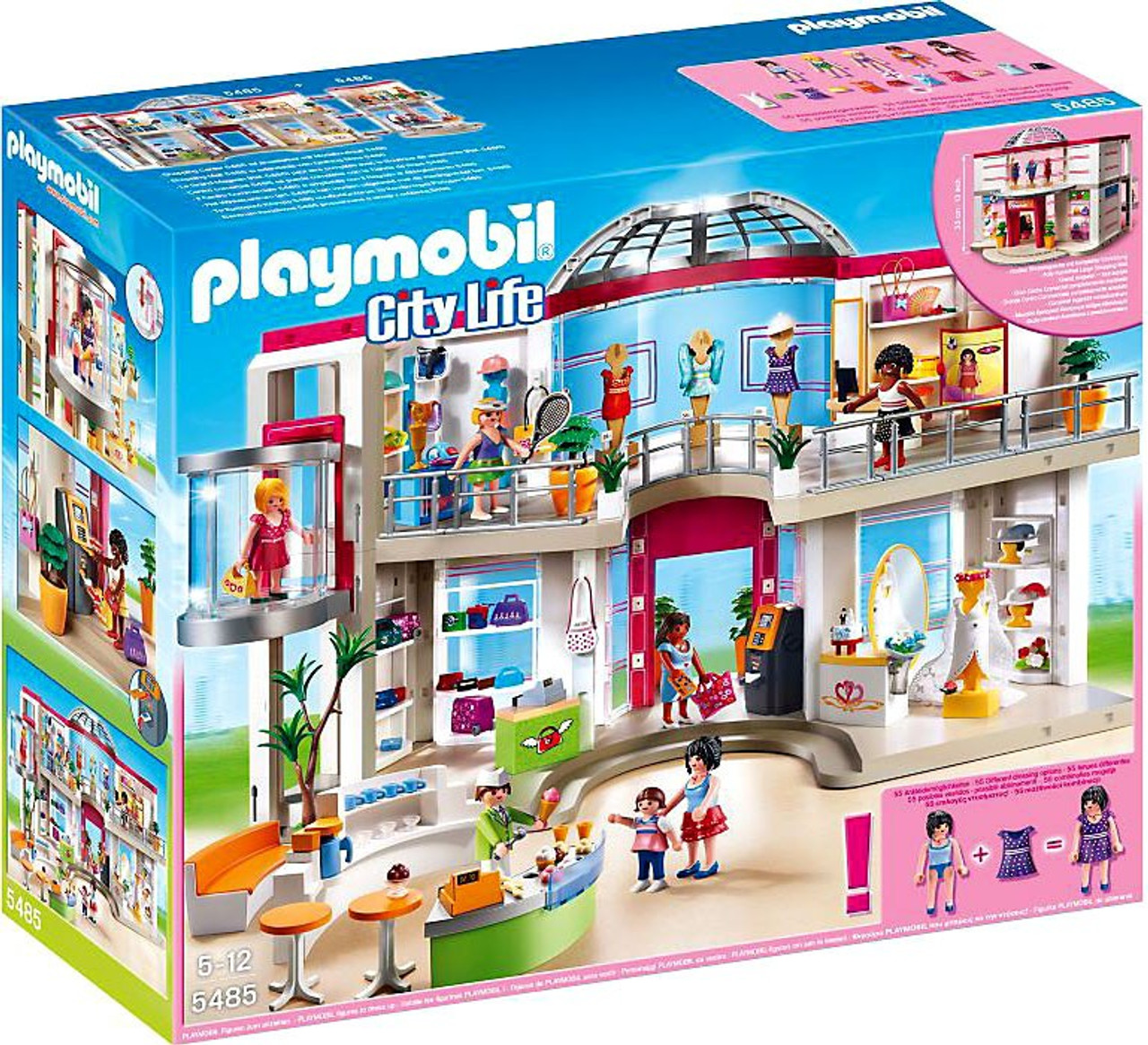 Playmobil City Life Küche Müller Playmobil City Life Furnished Shopping Mall Set 5485 - Toywiz
