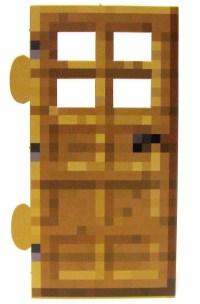 Minecraft Wood Door Papercraft Single Piece Jazwares