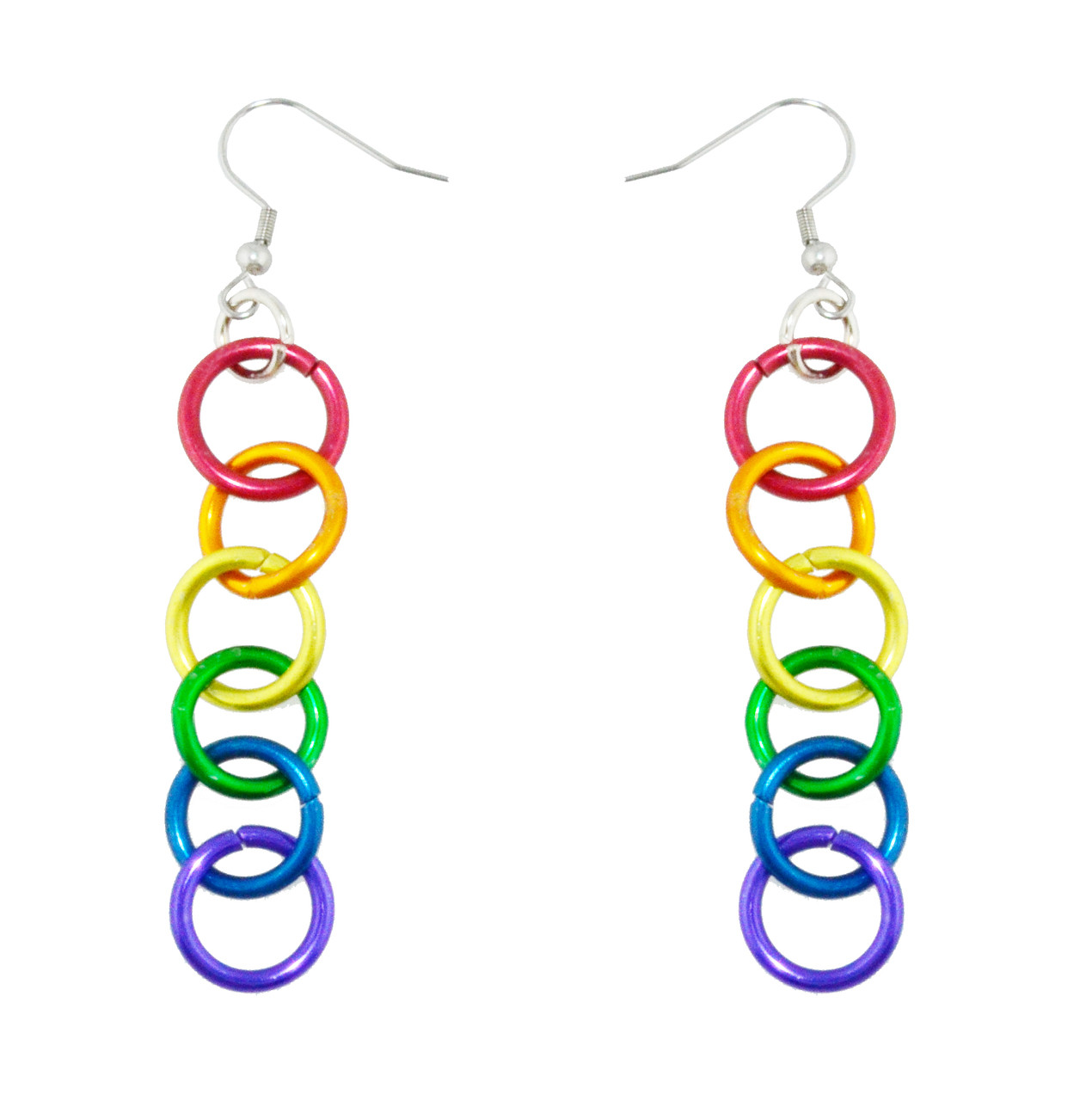 Bulk Rainbow Jewelry Lgbt Pride Rainbow Linkage Dangle Earrings Gay And