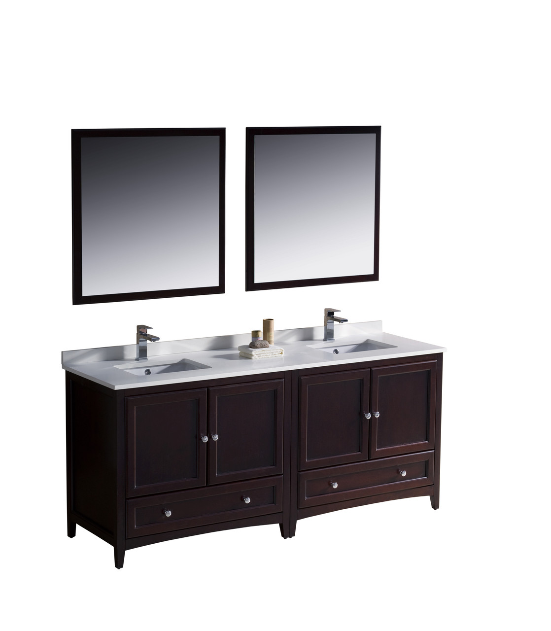 Traditional Double Sink Vanity Fvn20 3636mh Fresca Oxford 72 Quot Mahogany Traditional