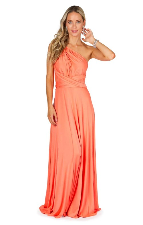 Medium Of Peach Bridesmaid Dresses