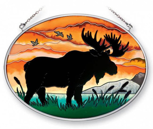 Black Kitchen Cabinet Handles Moose Silhouette Stained Glass Suncatcher