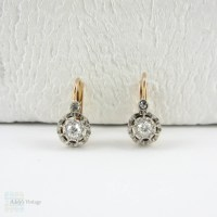 Victorian Diamond Earrings, Old European Cut Drop Earrings ...