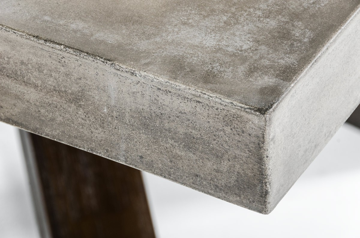 Concrete Table Top Adonis Concrete Top Dining Table Industrial Dining Tables