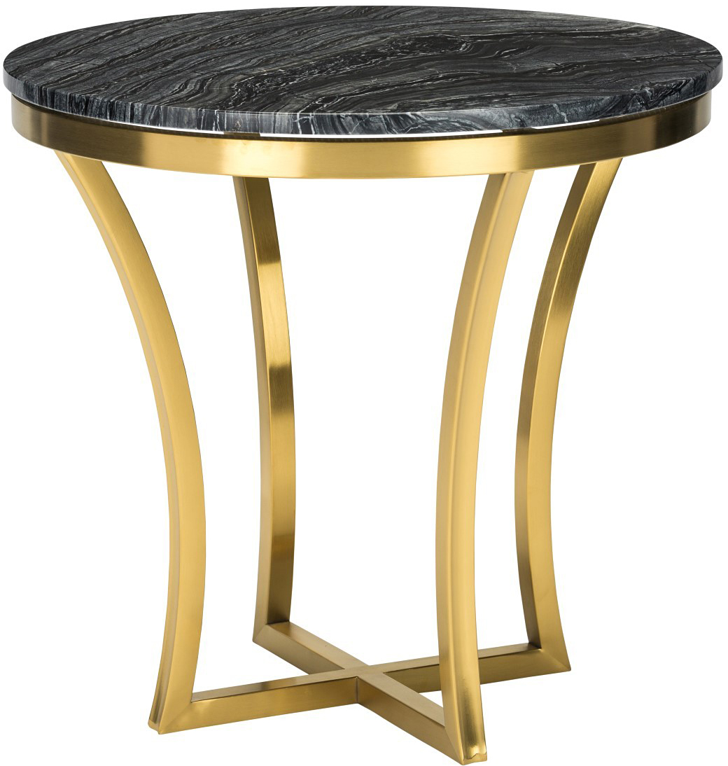 Black Modern Side Table Aurora Side Table Black Marble Modern Gold Side Table