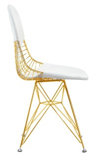 Wire Chair In Gold Finish - Gold Wire Side Dining Chair ...