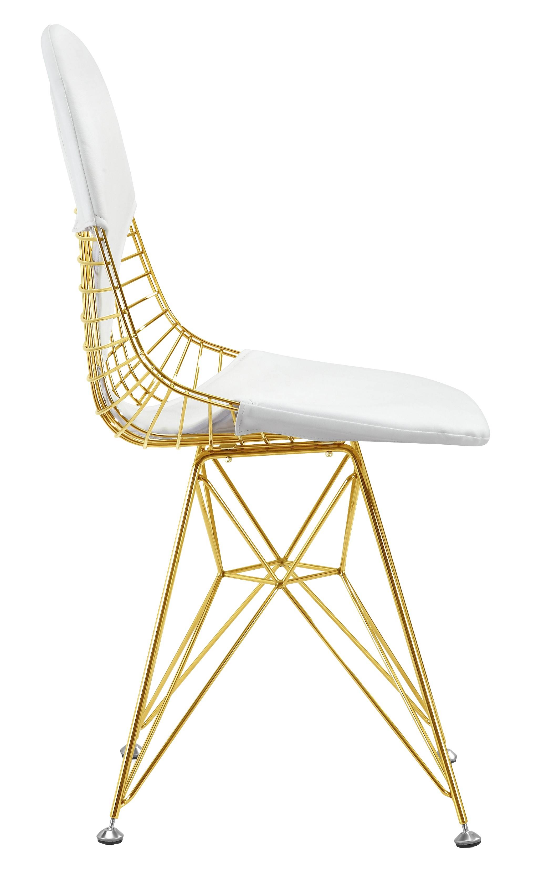 White And Gold Desk Chair Wire Chair In Gold Finish Gold Wire Side Dining Chair