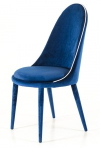 Zephyr Blue Velvet Dining Chairs | Blue Modern Dining Chairs