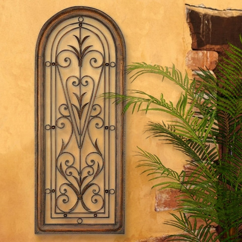Architectural Tuscan Window Arched Wall Grille