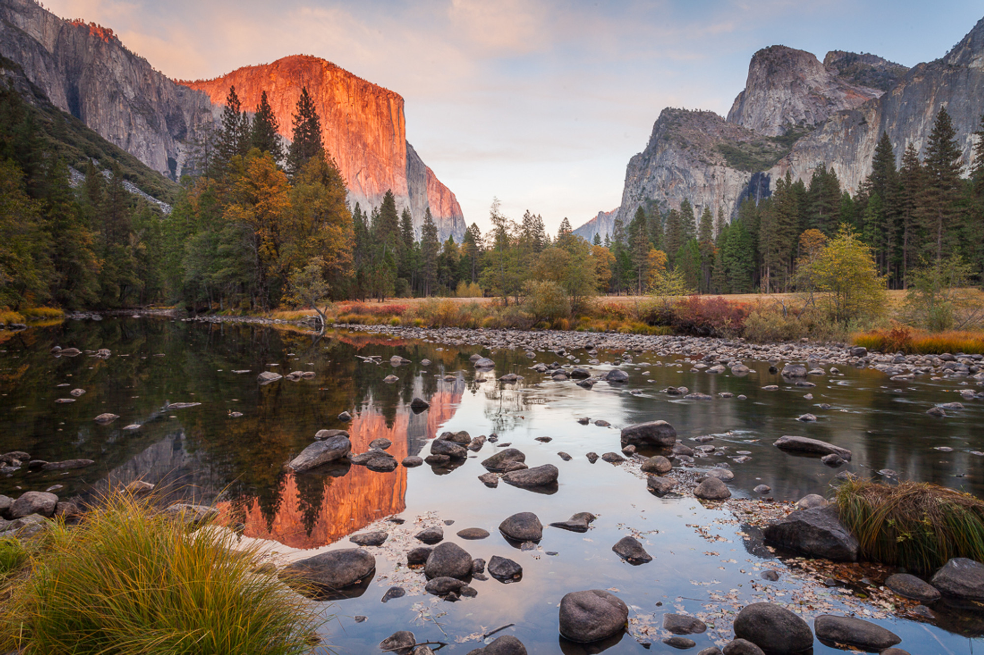 Panoramic Wallpaper Fall Sunset Late Autumn In Yosemite Vern Clevenger Photography
