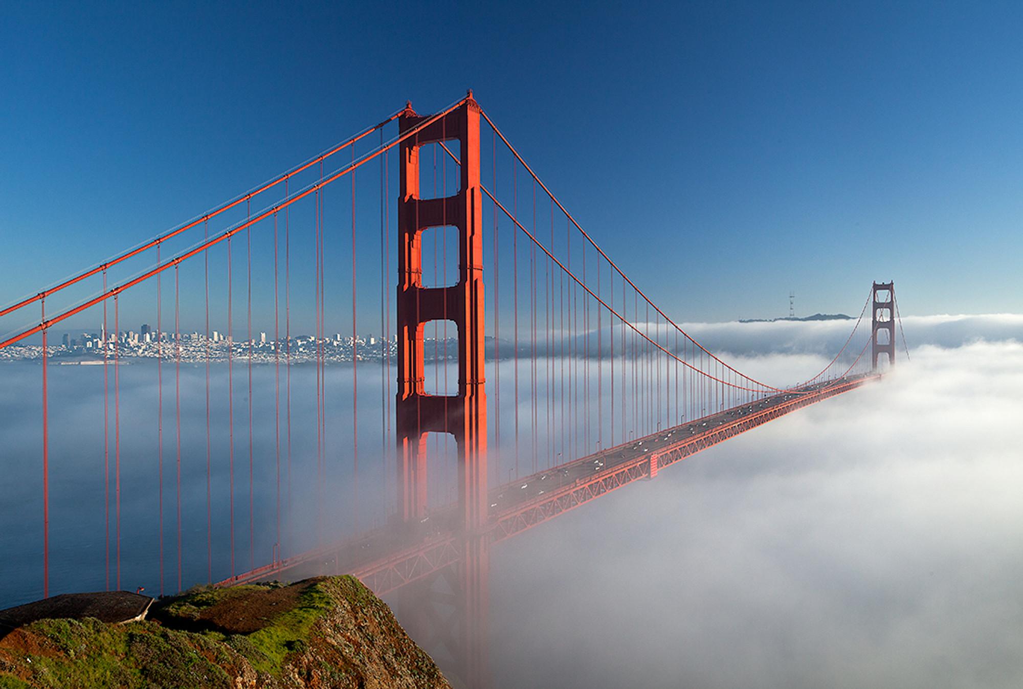 Panoramic Wallpaper Fall Golden Gate Bridge And Winter Fog Vern Clevenger Photography