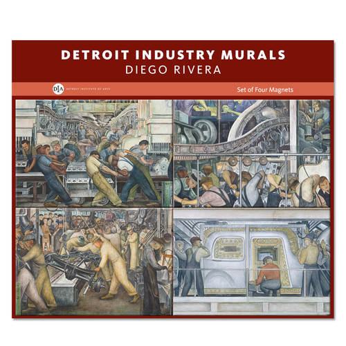 Bulk Rainbow Jewelry Diego Rivera Detroit Industry Murals Set Of 4 Magnets