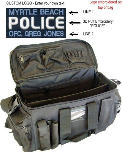 Strong Leather Custom Police Deluxe Gear Bag (3D Puff ...