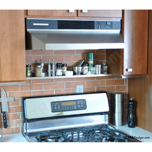 30in Stainless Steel Over The Range Shelf Spice Rack 5