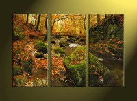 3 Piece Green Canvas Nature Wall Art