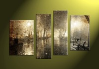 4 Piece Brown Canvas Nature Wall Art