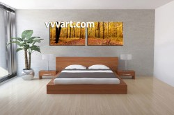 Relaxing Piece Canvas Art Autumn Canvas Nature Scenerycanvas Photography Piece Canvas Scenery Yellow Trees Multi Panel Art Panoramic Canvas Prints Groupon Panoramic Canvas Prints Tesco