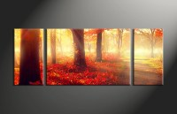 3 Piece Red Autumn Scenery Canvas Wall Decor