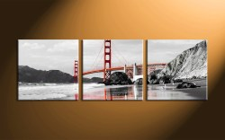 Posh 3 Piece City Black Group Canvas Prints Multi Panel Landscape Home Wall Art Decor Vvvart 91051 Panoramic Canvas Prints Walgreens Panoramic Canvas Prints Tesco