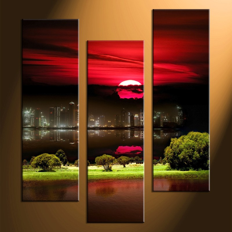 Large Of 3 Piece Canvas Art