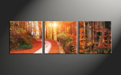 Genuine Home Piece Canvas Art Forest Forest Large Piece Colorful Scenery Autumn Canvas Art Prints 3 Piece Canvas Art 3 Piece Canvas Art Trees Sale