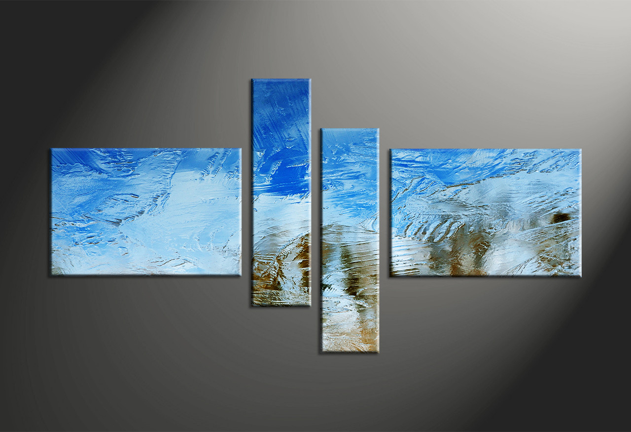 Abstract Art Prints On Canvas 4 Piece Blue Abstract Canvas Print Abstract Wall Art Large Abstract Art