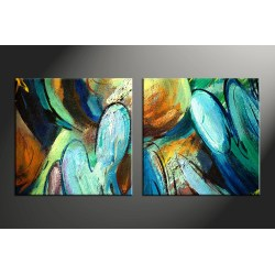 Small Crop Of Abstract Canvas Art