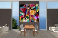 2 Piece Canvas Colorful Home Decor Abstract Decor