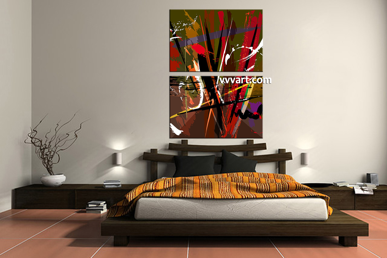 Home Decor Paintings 2 Piece Colorful Abstract Home Decor Artwork