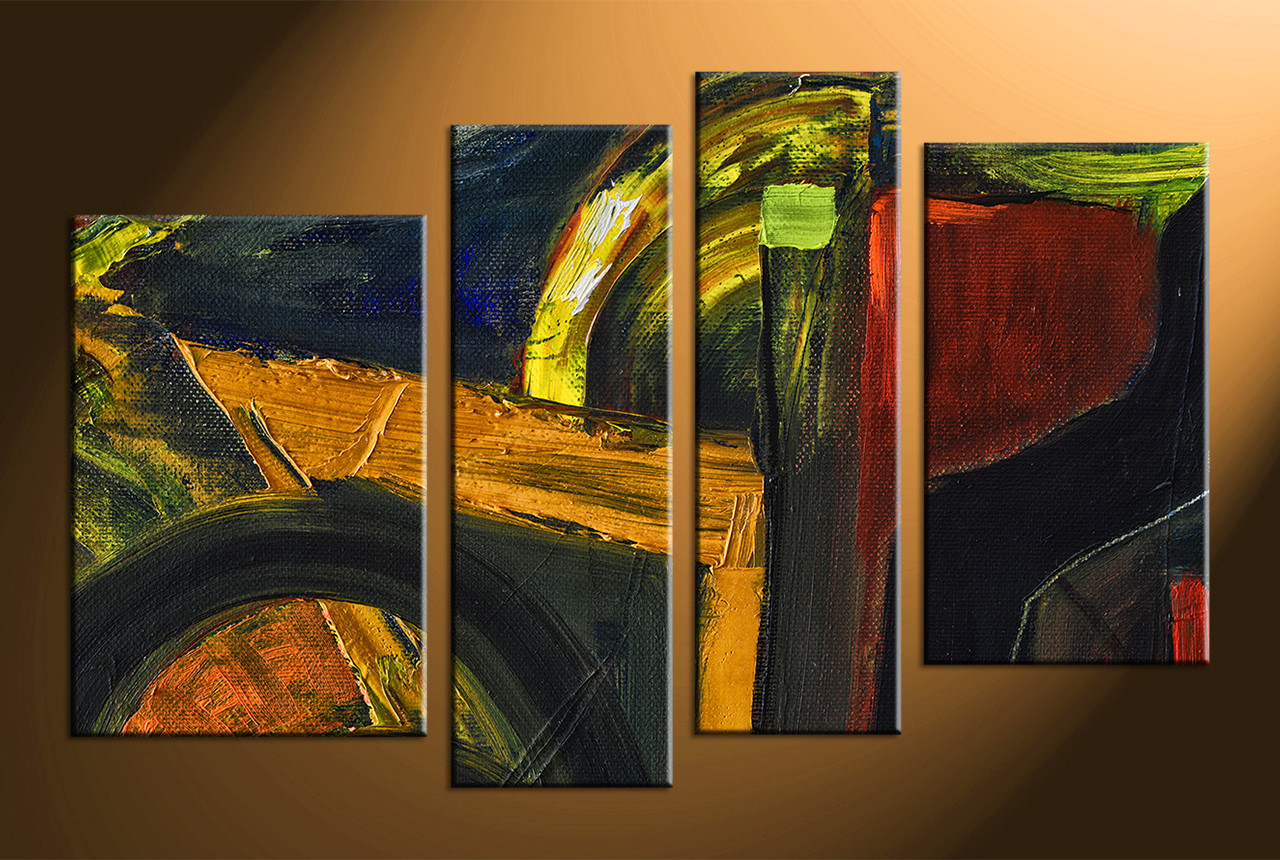 Home Decor Paintings 4 Piece Colorful Oil Painting Home Decor Abstract Pictures