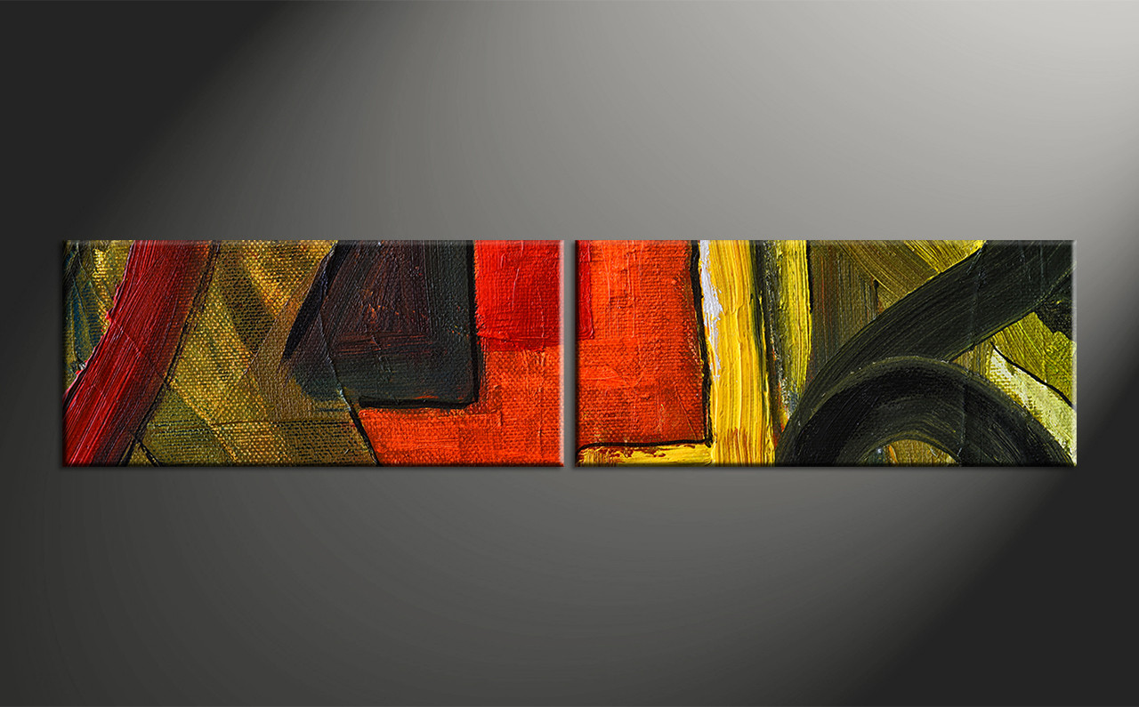 Home Decor Paintings 2 Piece Colorful Oil Painting Home Decor Abstract Wall Art