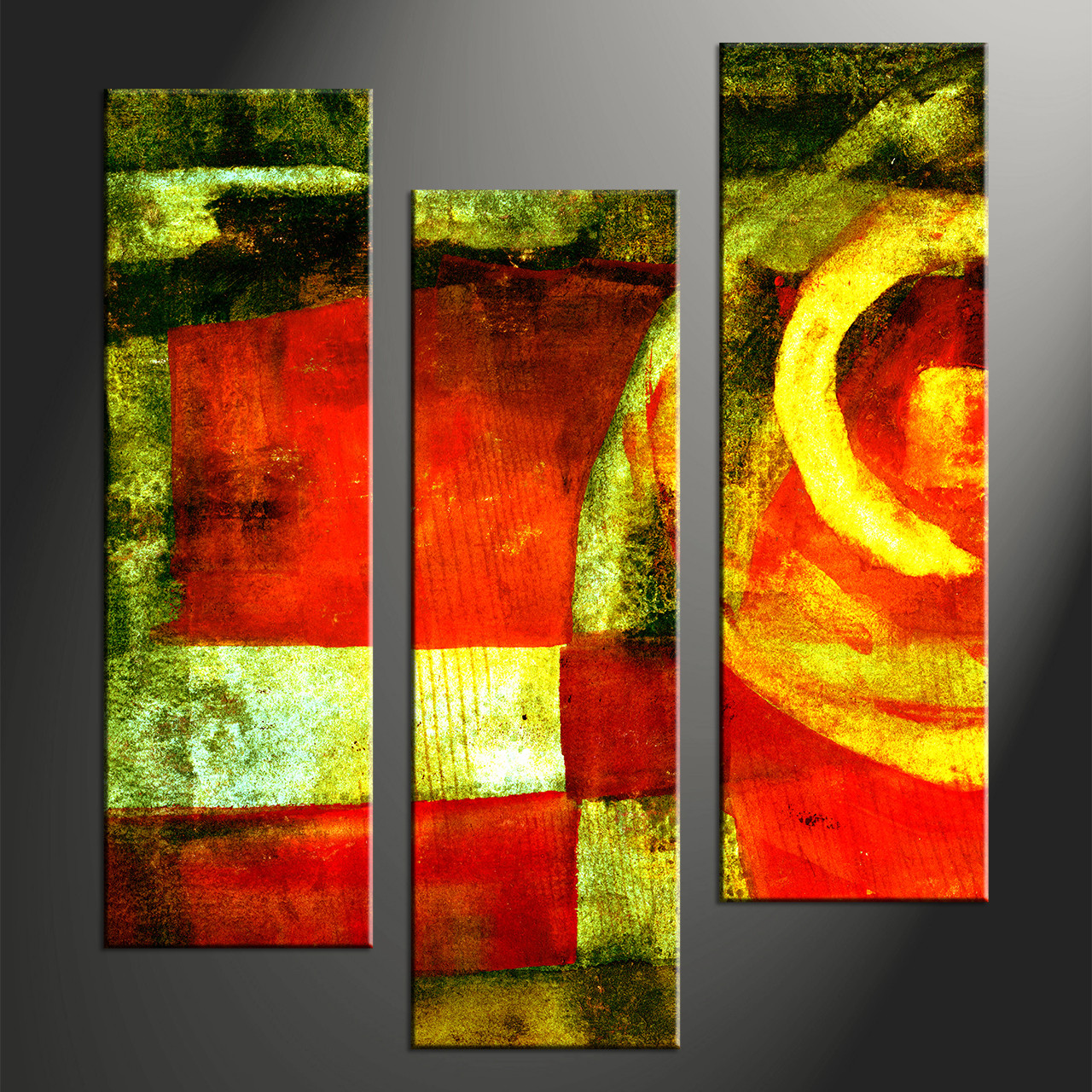 Home Decor Paintings 3 Piece Abstract Colorful Home Decor Photo Canvas
