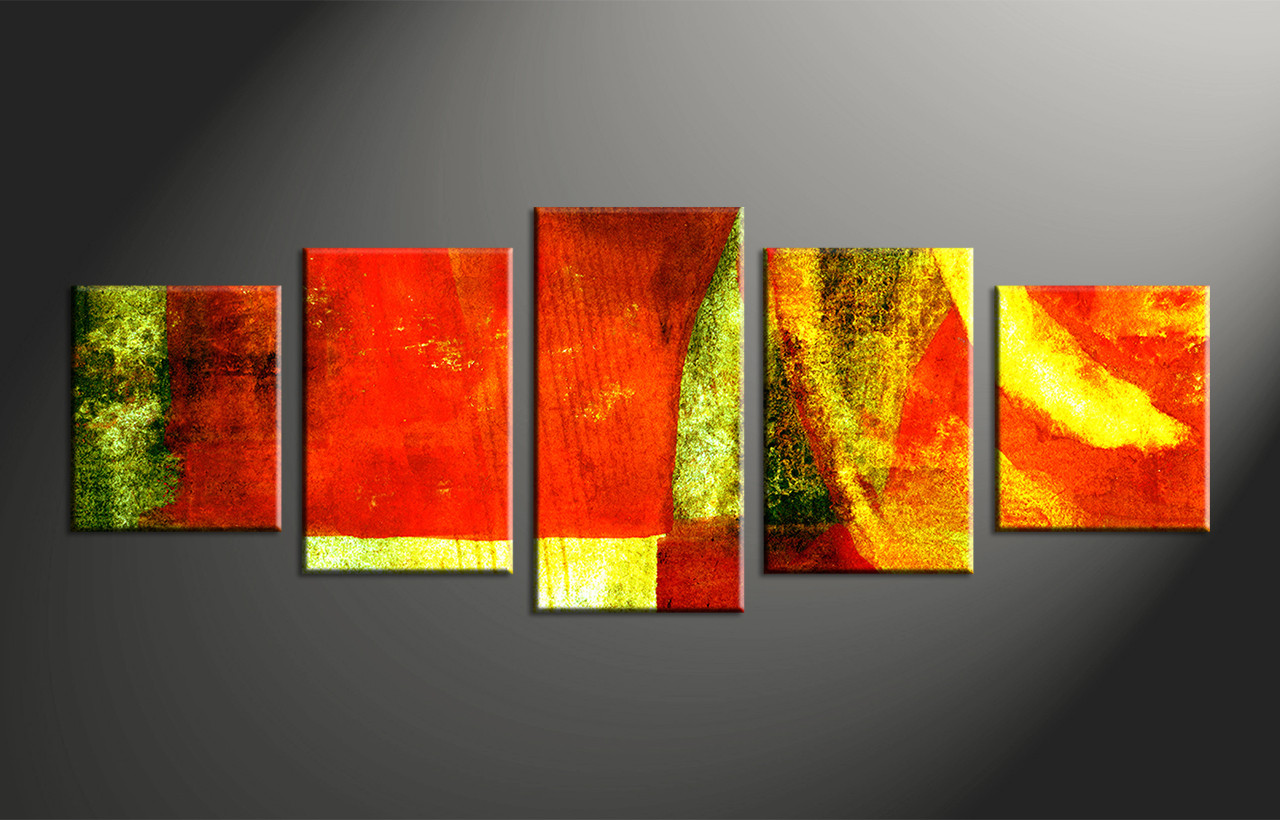 Home Decor Paintings 5 Piece Colorful Canvas Abstract Home Decor Multi Panel Art