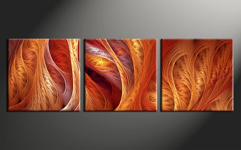 orange wall art decor