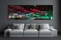 1 Piece Colorful City Huge Canvas Art