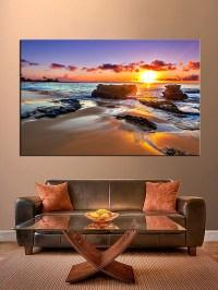 1 Piece Blue Ocean Pictures Sunset Wall Art