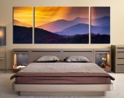 Assorted 3 Piece Canvas Wall Art Bedroom Wall Decor Landscape Huge Canvas Print Orange Canvas Photography Panoramic Wall Art 79765 Panoramic Canvas Prints Walmart Panoramic Canvas Prints Boots